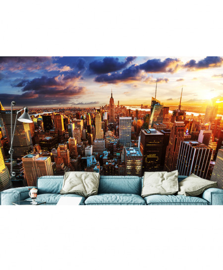 3D Modern Artistic City Scenery Wallspiration BNS-134