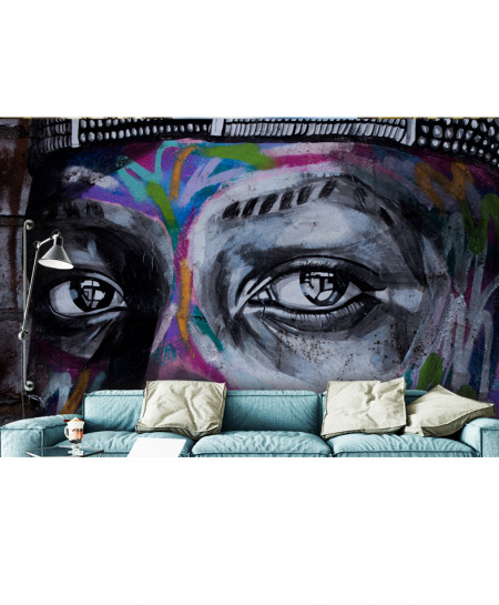 3D Modern Graffiti Art Wallspiration BNS-148
