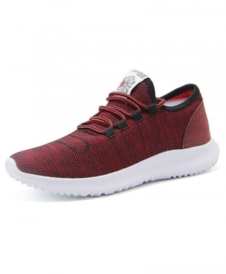 Maroon Breathable Mesh Lightweight Running Shoes