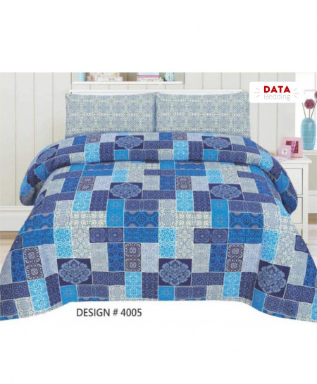 Blue Floral Cotton Bedsheet PBS-DB-4005