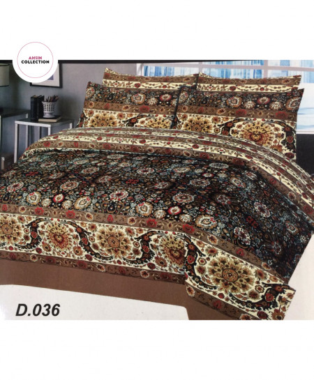 Brown Floral Cotton Bedsheet PBS-AC-036