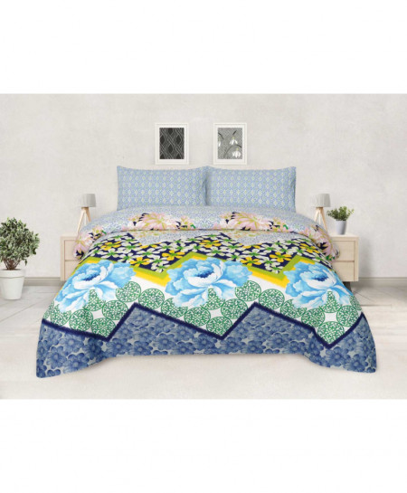 MultiColor Floral Cotton Bedsheet PBS-AH-150