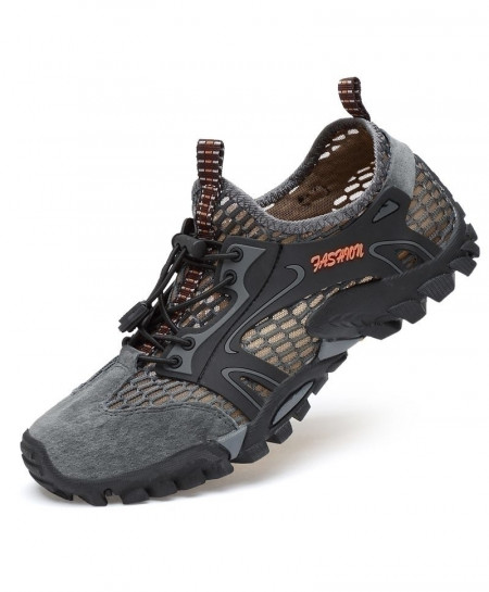 Gray Hiking Shoes Breathable Hunting Anti-Skid Sport Shoes
