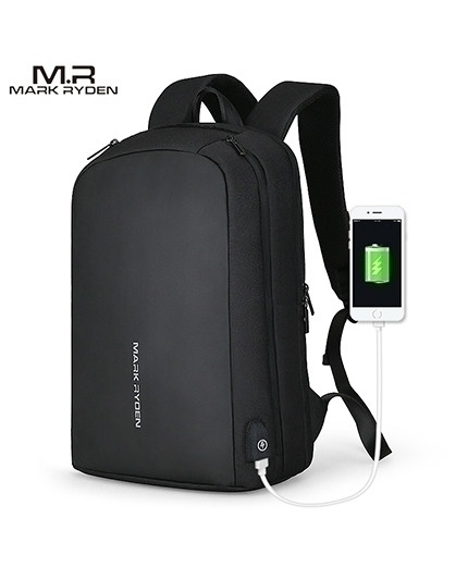Mark Ryden Black Multifunction USB Recharging Can Fit 15.6inch Laptop Backpack