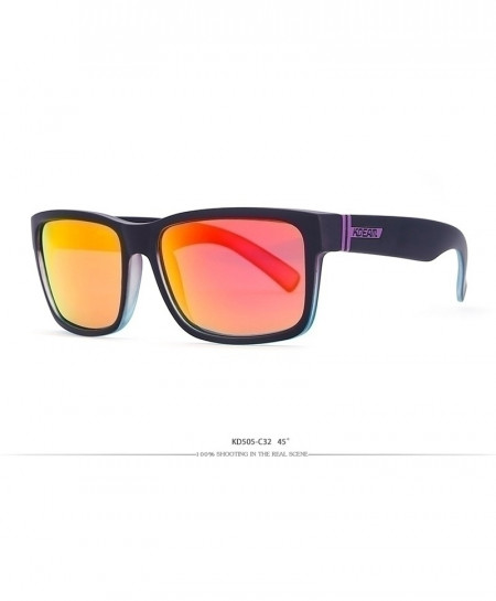 KDEAM Yellow Shaded Sport Sunglasses Polarized Square C32