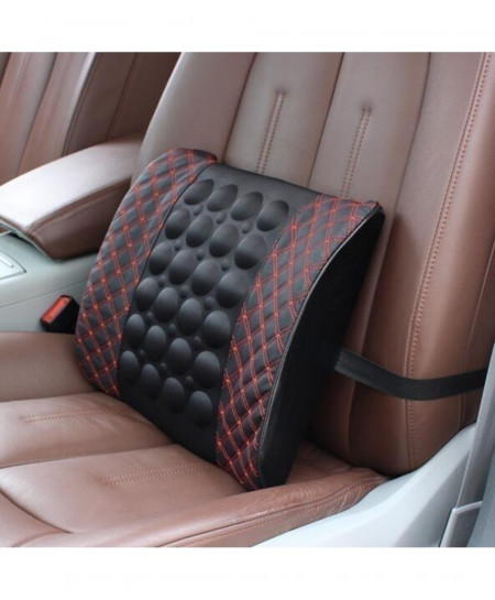 Electric Massage Lumbar Car Memory Foam Cushion Seat Support
