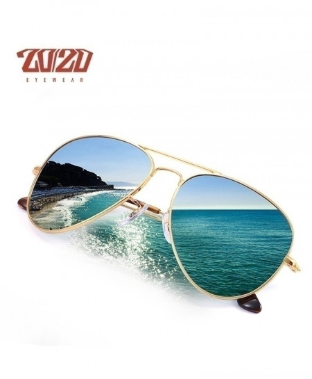 2020 Blue Pilot Polarized Sunglasses Metal Frame C15