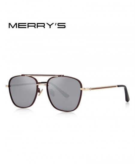 MERRY Red Wine Shaded Polarized Square Sunglasses C4