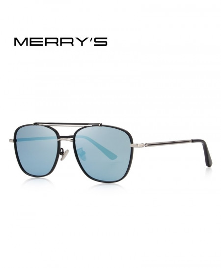 MERRY Sky Blue Shaded Polarized Square Sunglasses