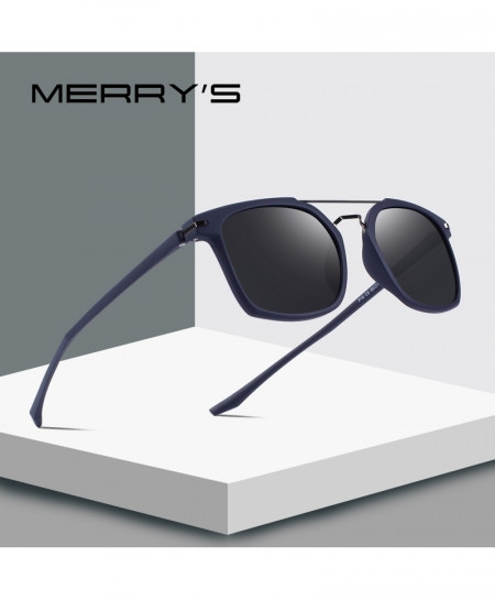 MERRY Navy Classic Square Polarized Sunglasses