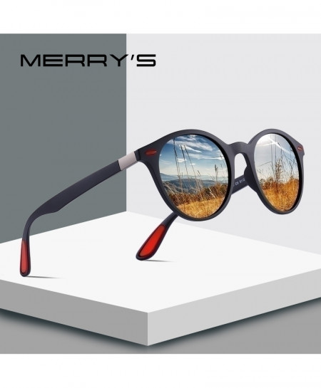 MERRY Matte Black Polarized Legs Lighter Design Oval Sunglasses