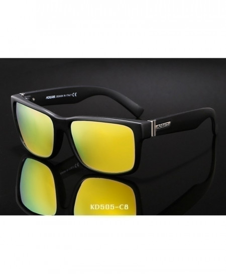 KDEAM Black Yellow Revamp Sport Polarized Sunglasses C8