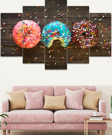 Artistic Donuts Stylish Canvas Wall Frame SA-31