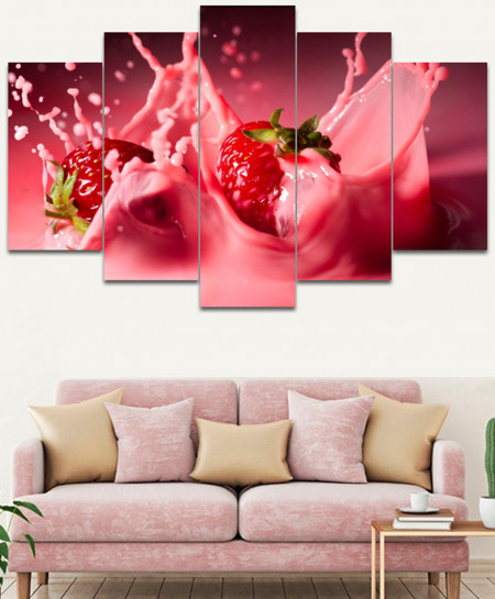 Strawberry Stylish Canvas Wall Frame SA-33