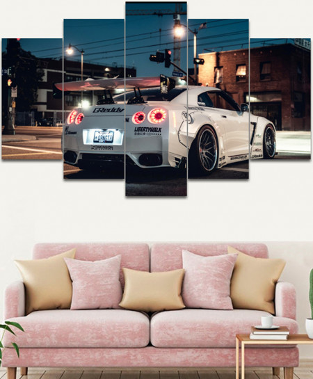 Nissan GTR Stylish Canvas Wall Frame SA-38