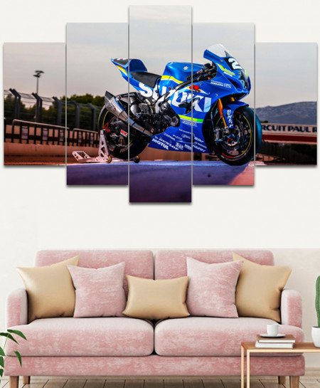 Heavy Bike Stylish Canvas Wall Frame SA-41