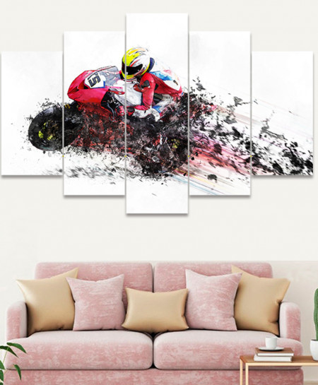 Artistic Bike Stylish Canvas Wall Frame SA-55