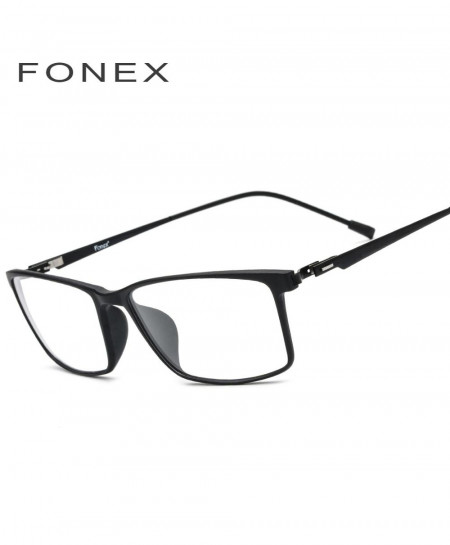 Fonex Black TR90 Titanium Alloy Glasses Frame Men Screwless Optical Frame