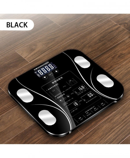 AIWILL Black LED Screen Grease Electronic Smart Bathroom Scale