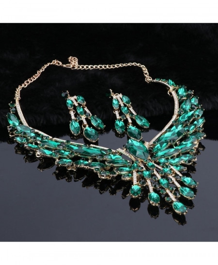 Crystal Green Jewelry Set For Women