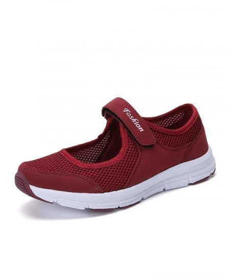 Bjakin Maroon Mesh Summer Running Breathable Mesh Sport Shoes