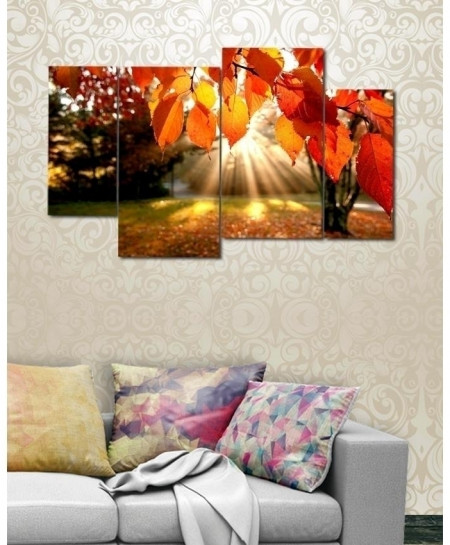 Digital Printed Greenery Canvas Wall Frame BNS-284