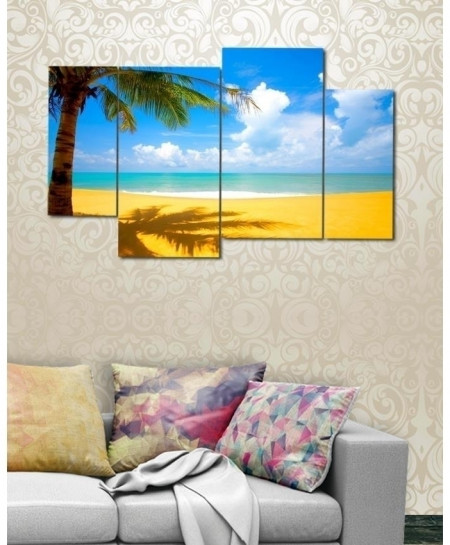 Digital Printed Beach View Canvas Wall Frame BNS-281