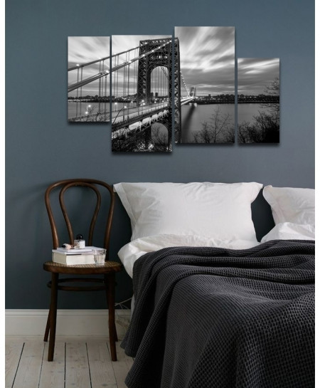 Digital Printed Bridge View Canvas Wall Frame BNS-276