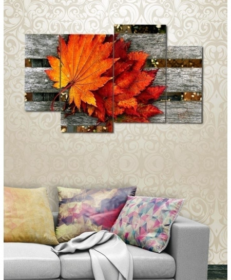 Digital Printed Leaves Canvas Wall Frame BNS-275