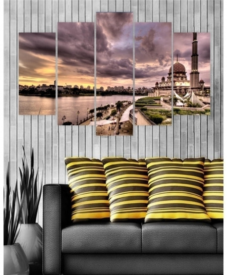 Digital Printed Mosque View Canvas Wall Frame BNS-267