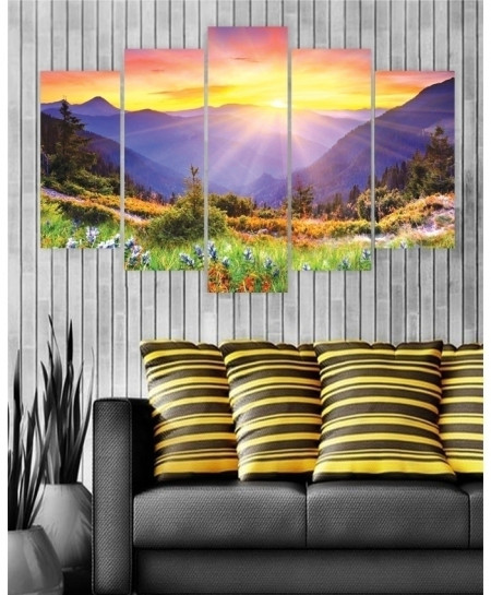 Digital Printed Mountain Canvas Wall Frame BNS-263