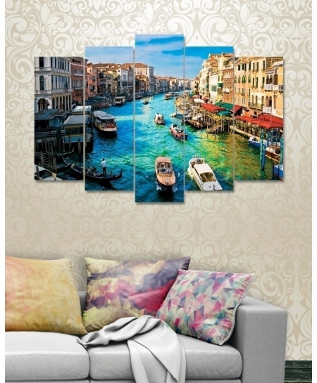 Digital Printed City View Canvas Wall Frame BNS-262