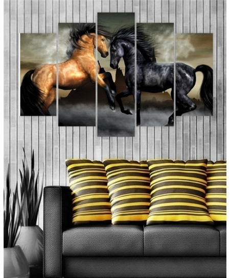 Digital Printed Horses Canvas Wall Frame BNS-244