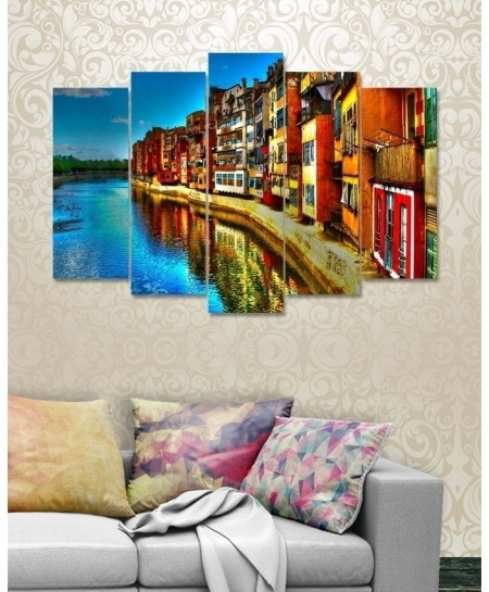 Digital Printed City View Canvas Wall Frame BNS-238