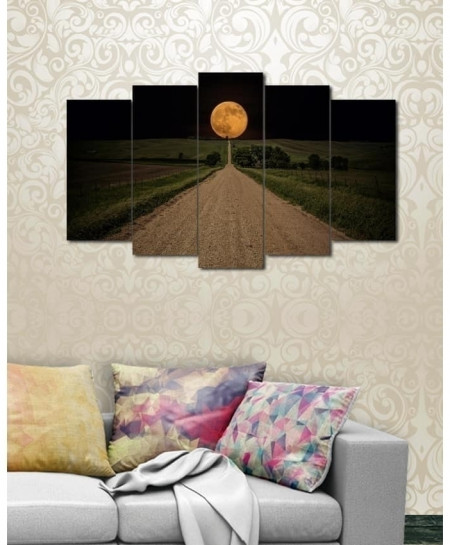 Digital Printed Road View Canvas Wall Frame BNS-233