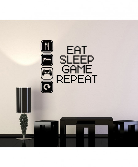 Eat Sleep Repeat Stylish Wall Decal BNS-226