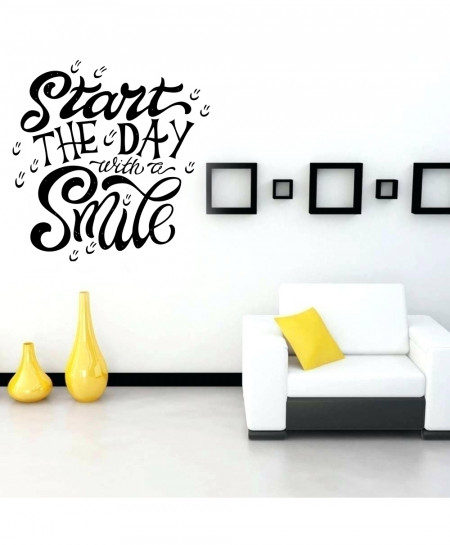 Start The Day With A Smile Wall Decal BNS-217