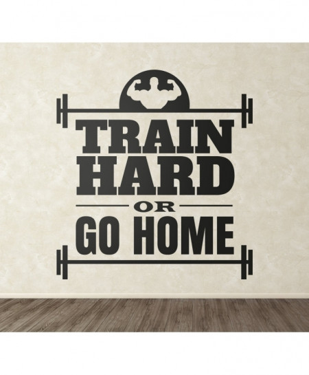 Train Hard Gym Motivation Wall Decal BNS-211