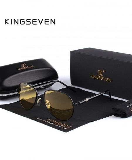 Kingseven Black Yellow Polarized Night Driving Sunglasses