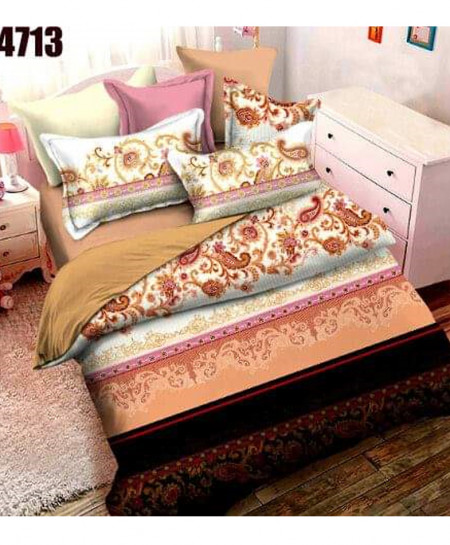 Multicolor Stylish Digital Printed Bedsheet SN-4713