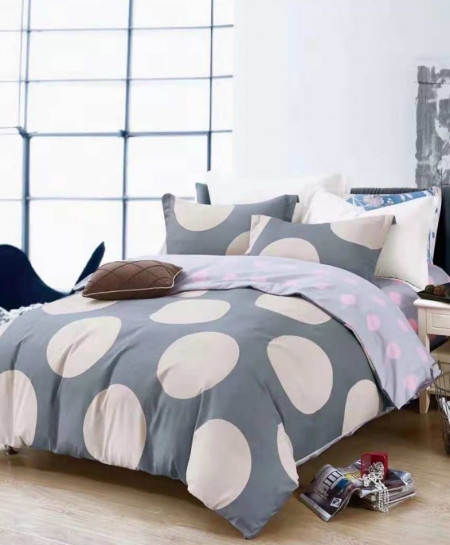 Varicolored Round Shape Printed Cotton Bedsheet RB-7090