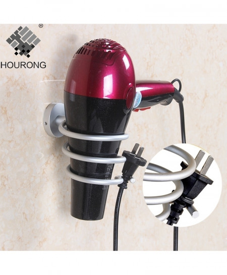 Hourong Space Aluminum Wall Mounted Hair Dryer Holder