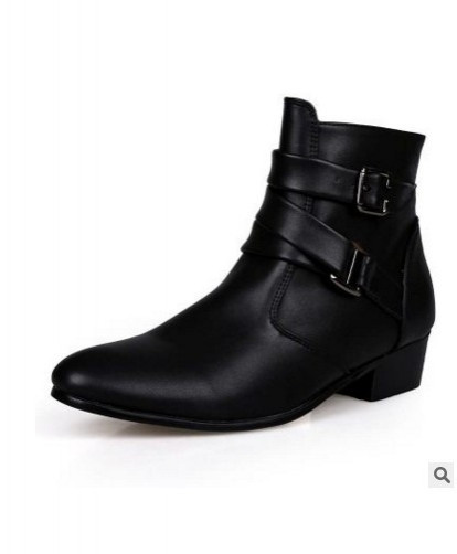 Black Buckle Vintage Stylish Casual Boots