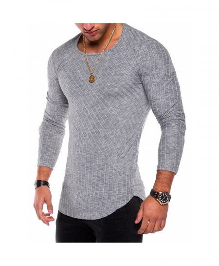 Gray Casual O-Neck Knitted Stylish Sweater