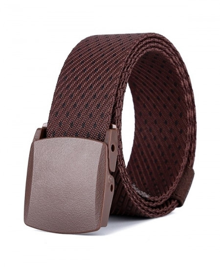 Brown Dotted Plain Buckle Stylish Design Belt