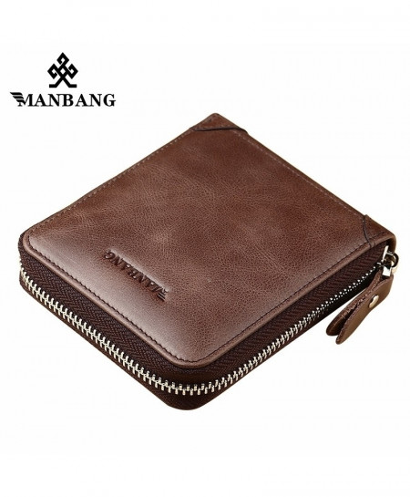 a3fcacdf53b7 ManBang Brown Stylish Design Coin Purse And Card Holder