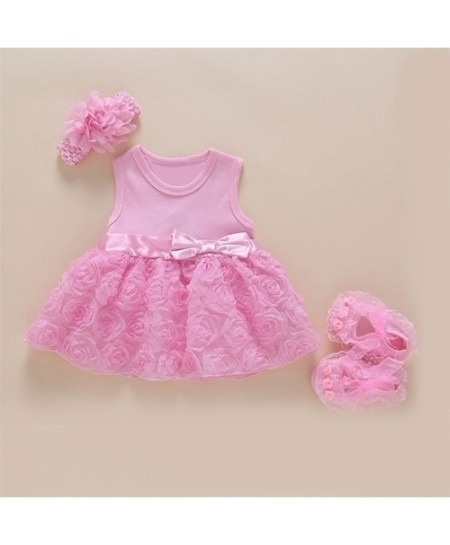 Foohinck Pink New Born Baby Girls Infant Dress Set