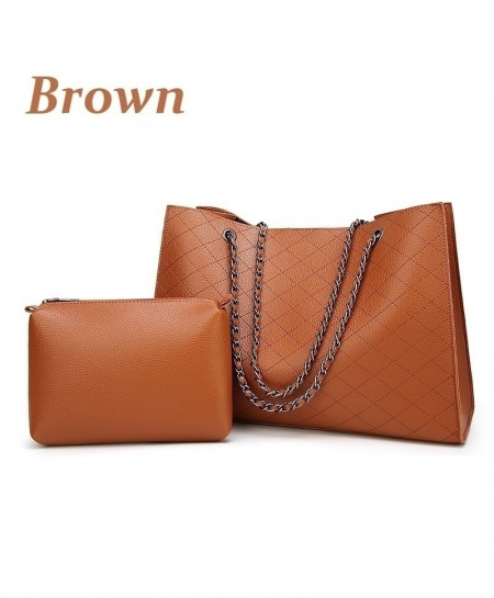 Brown Casual Tote Design Leather Handbag