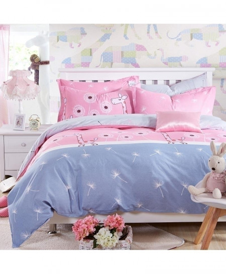 Pink Deer Classic Pastoral Stylish Bedsheet