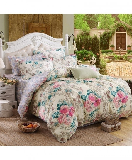 Simple Floral Classic Pastoral Stylish Bedsheet